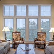 Living Room In MN With Energy Efficient Windows