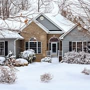 Snow from Winter Storm covers MN Home