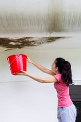 Woman Holding Bucket For MN Roof Leak