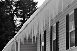 Icicles on MN Home Roof